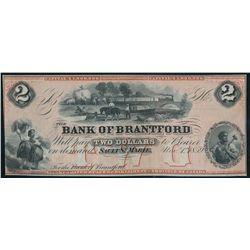 THE BANK OF BRANTFORD. $2.00. Nov. 1, 1859. CH-40-12-04R. A Remainder.….