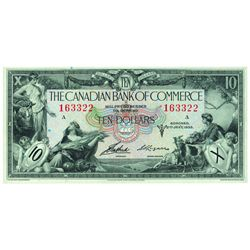 THE CANADIAN BANK OF COMMERCE. $10.00. 1935. CH-75-18-06. PMG GUNC-65 EPQ.