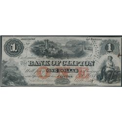 THE BANK OF CLIFTON. $1.00. Oct. 1, 1859. CH-125-10-04-02. No. 8746/A.….
