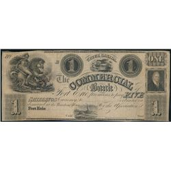 THE COMMERCIAL BANK OF FORT ERIE. $1.00. 18--, (1837 issue). CH-160-10-0….