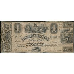 THE COMMERCIAL BANK OF FORT ERIE. $4.00. 18--(1837 issue). CH-160-10-08R….