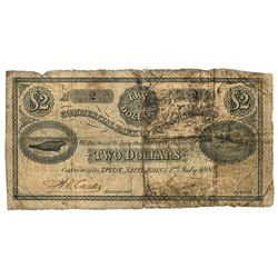 THE COMMERCIAL BANK OF NEWFOUNDLAND.  $2.00. July 1, 1884. CH-185-16-06.….