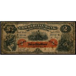 THE COMMERCIAL BANK OF NEWFOUNDLAND.  $2.00. Jan. 2, 1888. CH-185-18-04.….