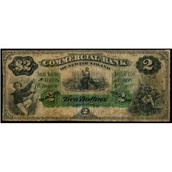 THE COMMERCIAL BANK OF NEWFOUNDLAND.  $2.00. Jan. 2, 1888. CH-185-18-02.….