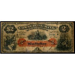 THE COMMERCIAL BANK OF NEWFOUNDLAND.  $2.00. Jan. 3, 1888. CH-185-18-04.….