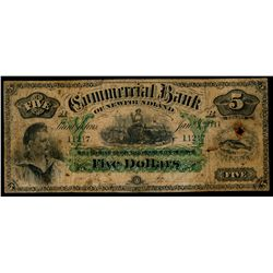 THE COMMERCIAL BANK OF NEWFOUNDLAND.  $5.00. Jan. 3, 1888. CH-185-18-06.….