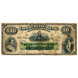 THE COMMERCIAL BANK OF NEWFOUNDLAND. $10.00. Jan. 3, 1888. CH-185-18-08.….