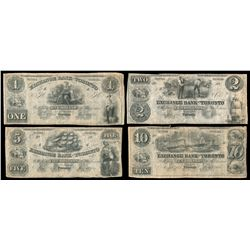 THE EXCHANGE BANK OF TORONTO. $1.00, $2.00, $5.00, $10.00. May 1, 1855.….