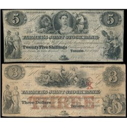 THE FARMER'S JOINT STOCK BANKING CO. $5.00. (25 Shillings). Feb. 1, 1849.….