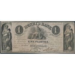 HENRY'S BANK. $1.00. June 27, 1837. CH-357-12-02. No. 9247/A. Fine+.