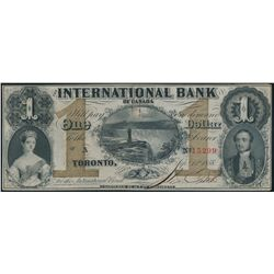 THE INTERNATIONAL BANK OF CANADA. $1.00. Sept. 15, 1858. CH-380-10-08-04….