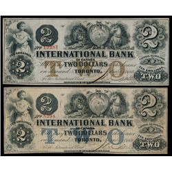 THE INTERNATIONAL BANK OF CANADA. $2.00. Sept. 15, 1858. CH-380-10-08-12….