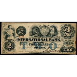 THE INTERNATIONAL BANK OF CANADA. $2.00. Sept. 15, 1858. Blue Protector.….