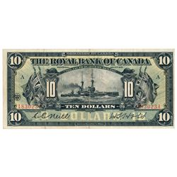 THE ROYAL BANK OF CANADA. $10.00. Jan. 2, 1913. CH-630-12-08. No. 183023….