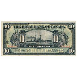 THE ROYAL BANK OF CANADA. $10.00. Jan. 2, 1913. CH-630-12-08. No. 183023….