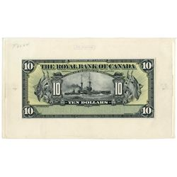 THE ROYAL BANK OF CANADA. $10.00. Jan. 2, 1913. CH-630-12-08. A full col….