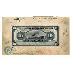 THE ROYAL BANK OF CANADA. $10.00. Jan. 2, 1912. CH-630-12-08M. A paste-u….