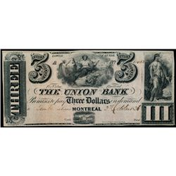 THE UNION BANK. $3.00. Oct. 3, 1838. CH-725-16-6R. RWH Printing. Orang….