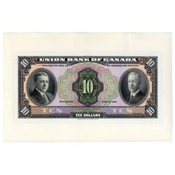 THE UNION BANK OF CANADA.  $10.00. July 1, 1921. CH-730-20-04P. A full….