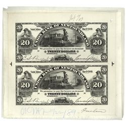 UNION BANK OF NEWFOUNDLAND. $20.00. May 1, 1889. CH-750-16-08P. An uncu….
