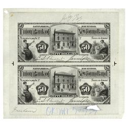 UNION BANK OF NEWFOUNDLAND. $50.00. May 1, 1889. CH-750-16-10P. An uncu….