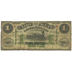THE UNION BANK OF PRINCE EDWARD ISLAND. $1.00. 1875. CH-755-14-02a. PMG VG-10 Net.