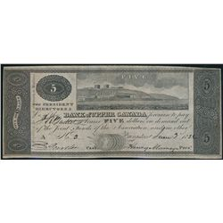 BANK OF UPPER CANADA (Kingston). $5.00. June 3, 1820. CH-765-10-14. No.….