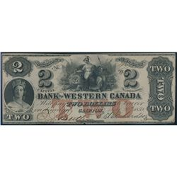 THE BANK OF WESTERN CANADA. $2.00. Sept. 20, 1859. CH-795-10-08. No. 97….