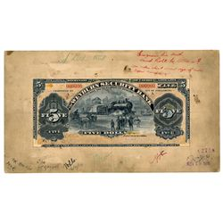 THE WEYBURN SECURITY BANK. $5.00. Jan. 3, 1911 issue. CH-805-10-02MP. M….