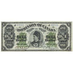 DOMINION OF CANADA.  $1.00.  June 1, 1878.  DC-8e-iii-O.  Payable at Montre…