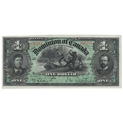 DOMINION OF CANADA.  $1.00.  July 2, 1897.  DC-12.  Signed Courtney.  Green…