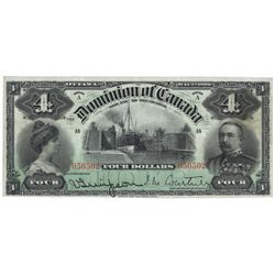 DOMINION OF CANADA.  $4.00.  July 2, 1900.  DC-16.  Signed Courtney.  U.S. …