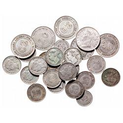 ST. SETTLEMENTS.  Five Cents.  KM#10.  1888.  Fine;  1895.  VF;  Ten Cents.…