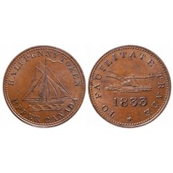 Breton-730.  UC-12A2.  To Facilitate Trade.  1823.  ICCS Mint State-60.