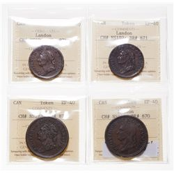 Breton-870.  NS-4A2.  One Penny Token.  1832.  ICCS Extra Fine-40;  NS-2B2.…