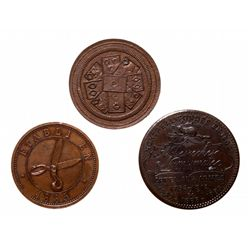 Breton-572. Card Token. Unc;  Breton-573. A. Desrochers, Montreal. Copper. …