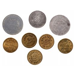 Breton-606.  P.O. Tremblay.  White metal.  Breton-629.  A.P. 5 Cents. Brass…