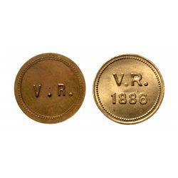Breton-621.  V.R. 3 Stars.  Extra Fine;  Breton-622.  V.R.  1886.  Beaver. …