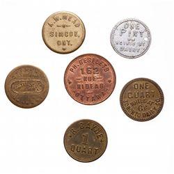 Breton-795.  P.H. Desilets.  Tailleur.  1889.  Copper.  AU;  Breton-796.  A…