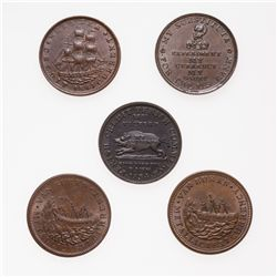 HARD TIMES TOKENS.  Running Boar.  HT#9. and HT#11.  Daniel Webster,  HT#16…