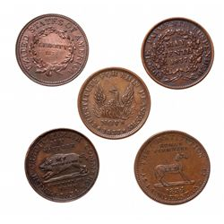 HARD TIMES TOKENS.  Running Boar.  HT#9.  The Constitution.  HT#25.  Not On…