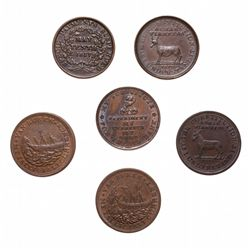 HARD TIMES TOKENS.  Running Boar.  HT#9;  Daniel Webster.  HT#18 & HT#20;  …