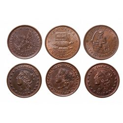 HARD TIMES TOKENS.  Illustrious Predecessor.  HT#33;  Liberty-Not-One Cent.…