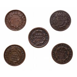 HARD TIMES TOKENS.  Liberty-Not-One Cent.  HT#35.  Fine+;  HT#36.  Fine;  H…