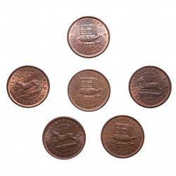 HARD TIMES TOKENS.  Illustrious Predecessor. 1837. Copper.  HT#33.  Lot of …