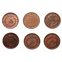 HARD TIMES TOKENS.  New York.  Merchants Exchange.  HT#293. (5 pcs.);  HT#2…