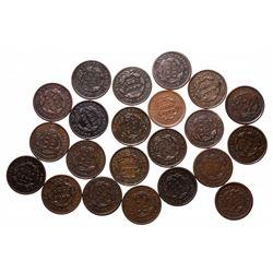 Half Cents.  Classic Head Type.  Good-4, (4 pcs.);  VG-8, (9 pcs.);  Fine-1…
