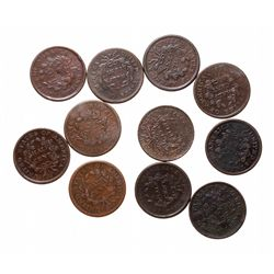 Half Cents.  1806,  1807.  Both A. Good-2;  1880, (2 pcs.);  1804, (2 pcs.)…