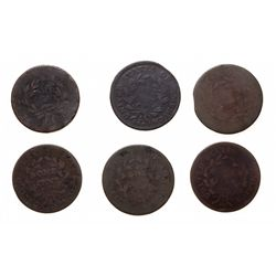 Large Cent.  Liberty Cap Large Cents.  1794-96, (3 pcs.);  Draped Bust Larg…
