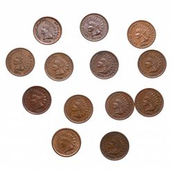 ONE Cent.  1866, 1868, 1869, 1871, 1872, 1878.  All Fine-12 to Fine-15;  18…